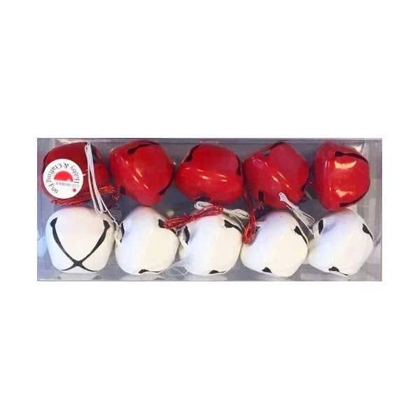 Zvončići set crvenobijeli 3 cm