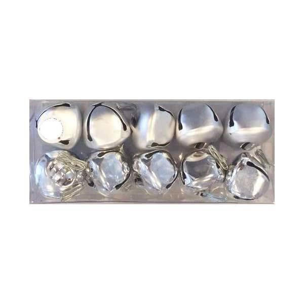 Zvončići set srebrni 3 cm