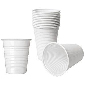 Čaše 0,3L pvc baždarene pk100 Dopla 02047 bijele