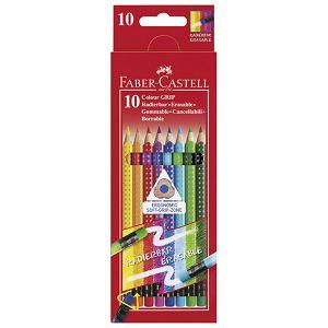Boje drvene  10boja s gumicom Grip 2001 Faber Castell 116613 blister