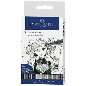 Flomaster Pitt artist  Manga Basic set pk8 Faber Castell 167107 blister
