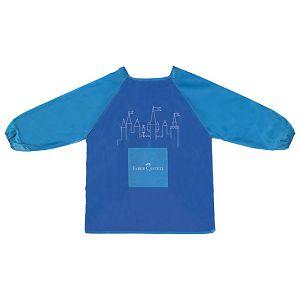 Pregača za likovni s rukavima 43x57cm Faber Castell 201203 plava blister