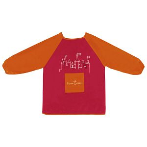 Pregača za likovni s rukavima 43x57cm Faber Castell 201204 crvena blister