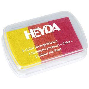 Jastučić za pečat 3 boje (crvena, narančasta, žuta) Heyda 20-48884 62