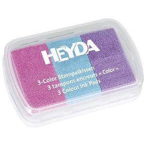 Jastučić za pečat 3 boje (ljubičasta, plava, roza) Heyda 20-48884 68