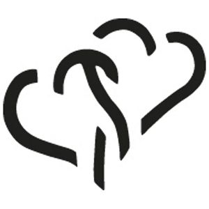 Bušač 1 rupa mala-srce pop-up Heyda 20-36874 51 blister