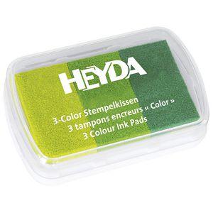 Jastučić za pečat 3 boje (3 zelene) Heyda 20-48884 63