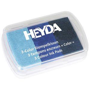 Jastučić za pečat 3 boje (3 plave) Heyda 20-48884 64