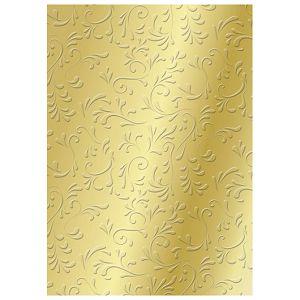 Papir ukrasni s uzorkom A4 220g pk20 Roma Heyda 20-47726 18 zlatni