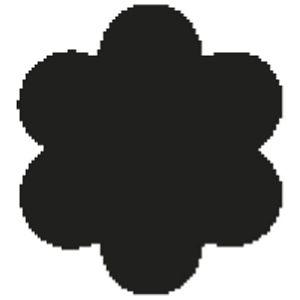 Bušač 1 rupa mala-cvijet okrugli Heyda 20-36874 24 blister