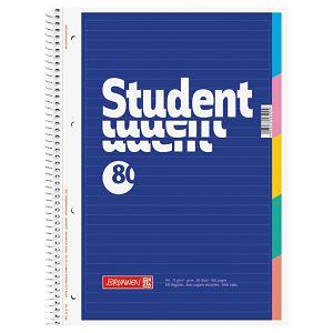 Blok kolegij A4 crte  80L perforacija+4rupe rub u boji Brunnen 10-67901 plavi