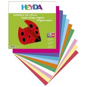Papir Origami 10x10cm 60g pk100 Heyda 20-48755 10