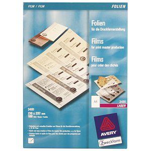Folija Laser za grafičku pripremu A4 100my mat pk100 Zweckform 3491