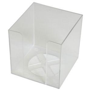 Blok kocka pvc  9,2x9,2x9,5cm - prazna Fornax prozirna