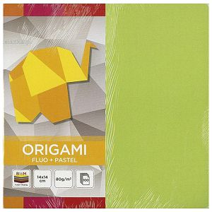 Papir Origami 14x14cm 80g pk100 fluo+pastel Interdruk