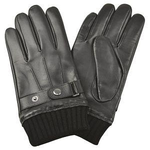 Rukavice kožne muške Galko 71-0070-R01 crne M!!