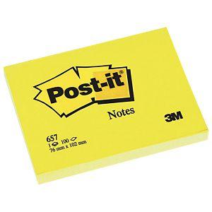 Blok samoljepljiv 102x76mm 100L Post-it 3M.657 žuti