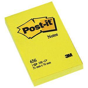 Blok samoljepljiv  51x76mm 100L Post-it 3M.656 žuti