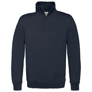 Majica dugi rukavi zip B&C ID.004 280g tamno plava XL!!