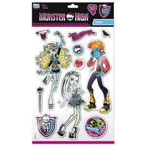 Naljepnice zidne 3D Monster High 1 Starpak 301091!!