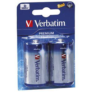 Baterija alkalna 1,5V D pk2 Verbatim 49923 LR20 blister