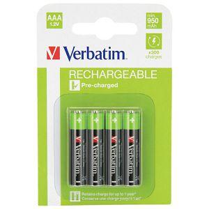 Baterija za punjenje 1,2V AAA pk4 Verbatim 49942 LR03 blister!!