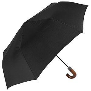 Kišobran automatik sklopivi s drvenom ručkom Time Perletti 26016 crni