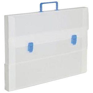 Torba-kofer pp-tvrdi  420x315x50mm Balmar (Dispaco) 5633 bijeli/plava ručka