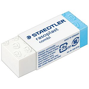 Gumica duo plastična Staedtler 526 BT30 bijela/plava-KOMAD