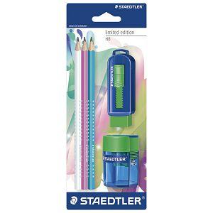 Olovka grafitna HB pk3+gumica 525+šiljilo 511 Limited edition Staedtler 133SBK3P4!!