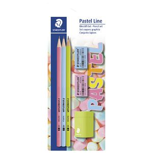 Olovka grafitna HB Norica pk3+gumica pk2+šiljilo Pastel Line Staedtler 13043SBKP1!!