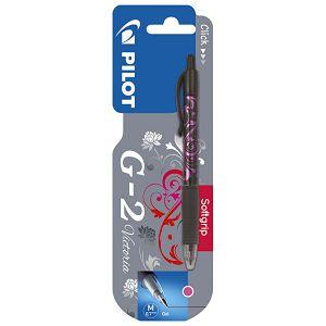 Roler gel grip 0,7mm G2 Victoria Pilot BL-G2-7-VA rozi blister!!