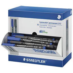 Stalak s markerima permanentnim 1mm pk35 Lumocolor Staedtler 317-SCA1P!!