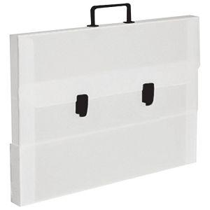 Torba-kofer pp-tvrdi  875x620x45mm Balmar (Dispaco) 5642 bijela/crna ručka