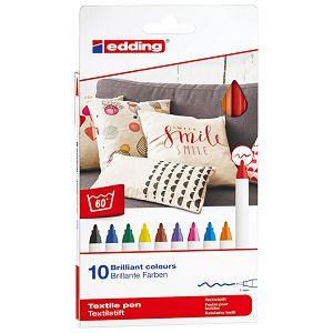 Flomaster za tekstil 1mm 10boja pk10 Edding 4600 blister