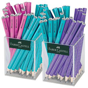 Olovka grafitna B Jumbo Sparkle pearl u čaši pk72 Faber Castell 111640