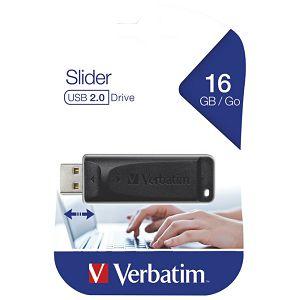 Memorija USB 16GB 3.0 StorenGo Slider Verbatim 98696 crni