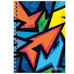 Blok kolegij 100x140mm karo 200L Neon Art Herlitz 50027927