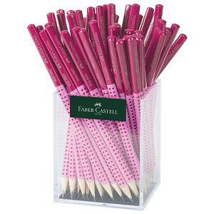 Olovka grafitna B Grip 2001 Two Tone u čaši pk72 Faber Castell 517072 roza