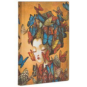 Notes  9,5x14cm-mini crte 104L bez zatvaranja Madame Butterfly Flexis Paperblanks FB6527-2