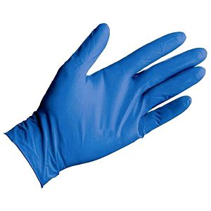 Pribor za čišćenje-rukavice nitril-bez pudera pk200 plave S