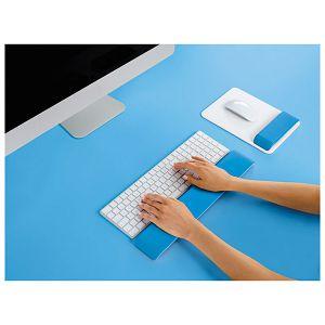 Podloga za ruke uz tipkovnicu Ergo Wow Leitz 65230036 plava/bijela