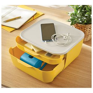 Kutija s  2 ladice Cosy Leitz 53570019 žuta/bijela