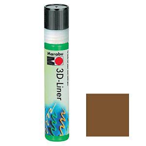 3D liner 25 ml smeđa (646)