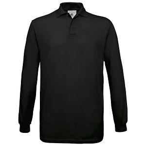 Majica dugi rukavi B&C Safran Polo LSL 180g crna 3XL!!