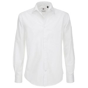Košulja muška dugi rukavi B&C Black Tie 135g bijela M!!