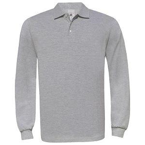 Majica dugi rukavi B&C Safran Polo LSL 180g svijetlo siva S!!
