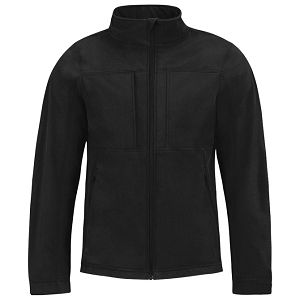 Jakna zip muška B&C Hooded Softshell crna M