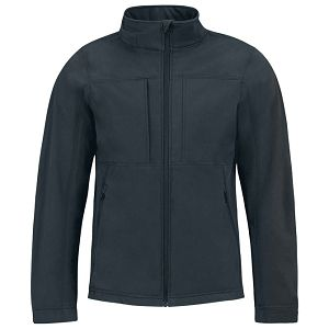 Jakna zip muška B&C Hooded Softshell tamno plava L