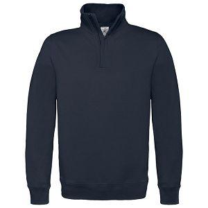 Majica dugi rukavi zip B&C ID.004 280g tamno plava 2XL!!